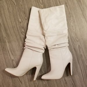 NEW Womens Steve Madden White Leather Size 7.5